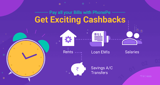 phonepe Recharge and bill payment offer