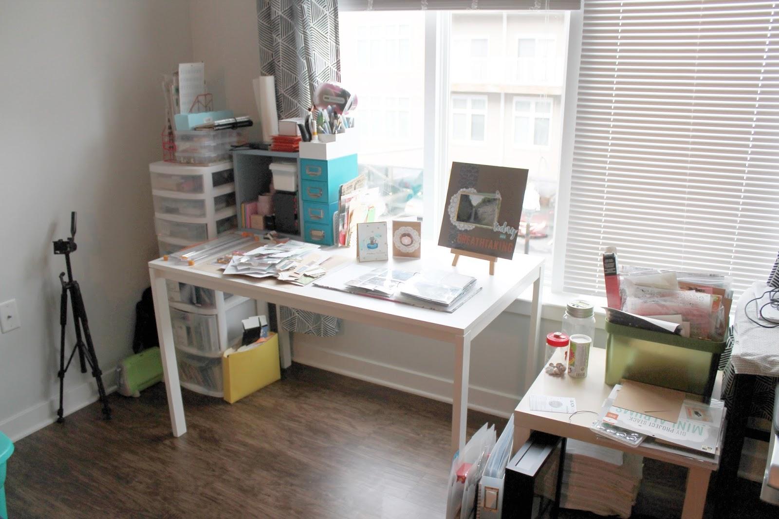 Video Apartment Craft Corner Tour October 2017 Gray Florals