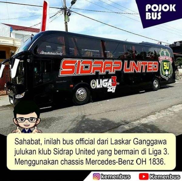 Bus Sidrap United Karoseri Nusantara Gemilang