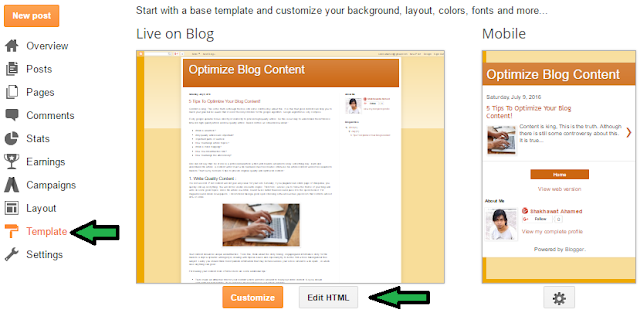 Remove Powered By Blogger Attribution