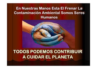 todos podemos contribuir a cuidar el planeta