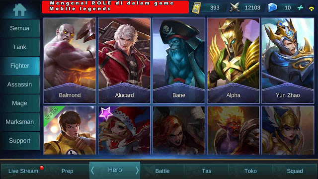 Mengenal ROLE di dalam game Mobile legends