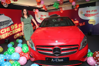 Raashi Khanna at Mirchi 95 Suno Mercedes Jeeto Contest Stills  0035.jpg