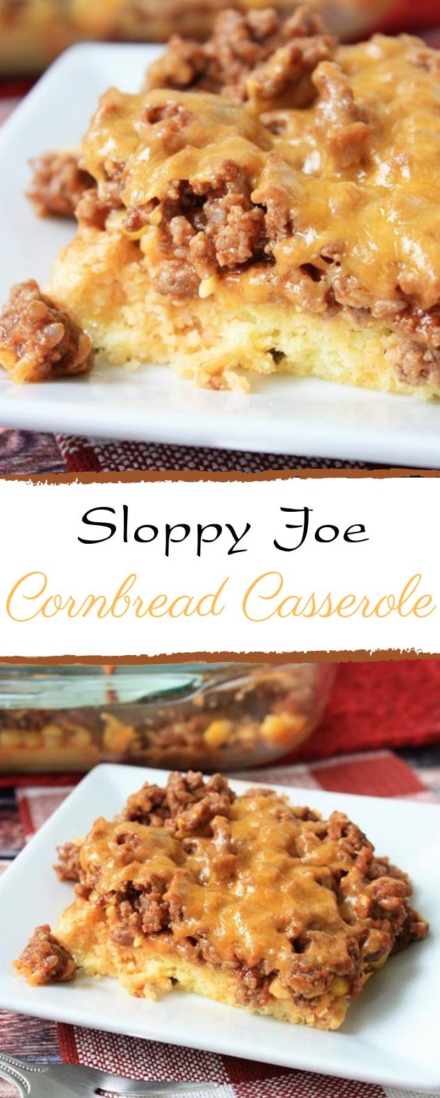 Sloppy Joe Cornbread Casserole #familyrecipe #deliciousmeal