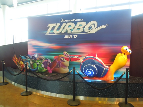 Turbo cinema lobby standee ArcLight Sherman Oaks