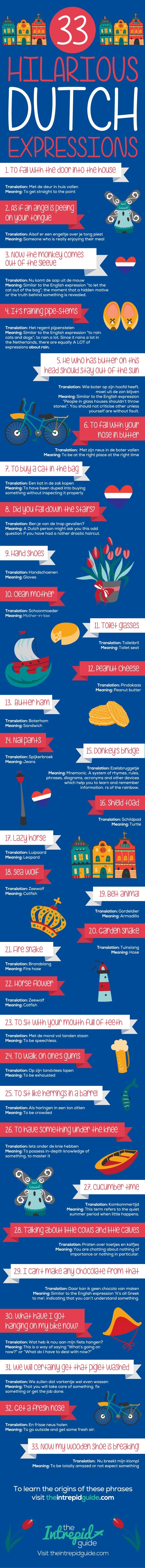33 Eye-Wateringly Funny Dutch Phrases and Idioms