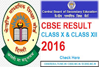 cbse class 10th results 2016