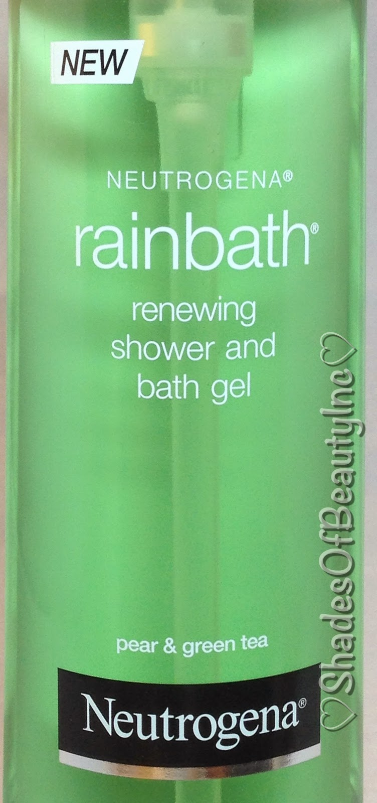 shades of beauty inc the other two products are the neutrogena rainbath renewing shower and bath gel the scent is pear green tea i would describe the scent as a crisp