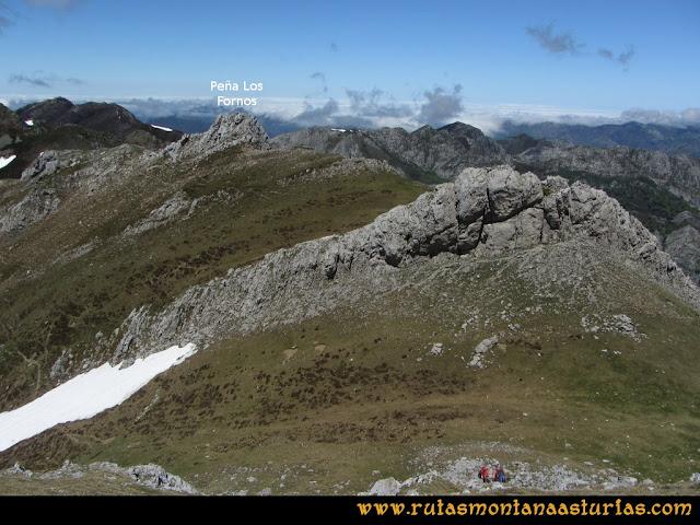 Ruta Les Rapaines, Lago Ubales, Cascayón: A la Peña Fornos