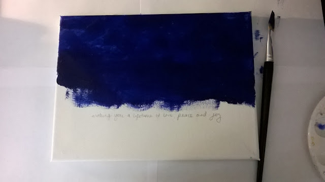 Night Sky Painting, Step 1