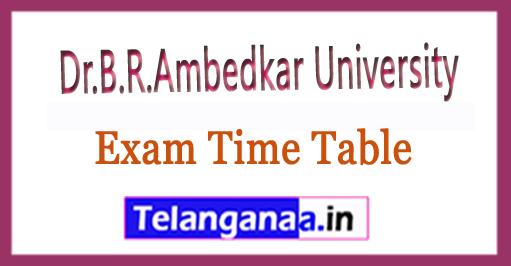 Dr.B.R.Ambedkar University BRAU B.Ed III Sem Exam Time Table 2018