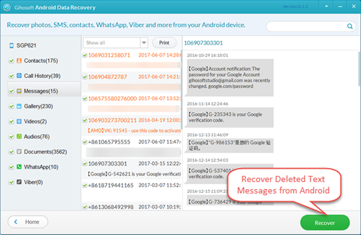 Android Phone Data Recovery: (Fixed) How to Recover Deleted Text