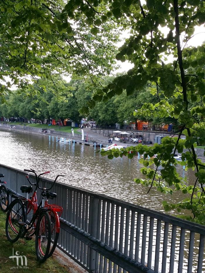 aurajokiranta Turussa - Aura-riverside in Turku, Finland
