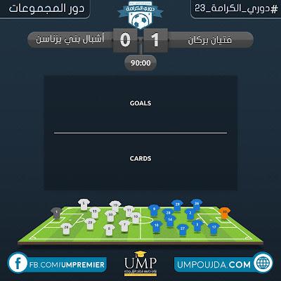 كلية العلوم : دوري الكرامة 23 - دور المجموعات - الجولة الثانية - مباراة 16