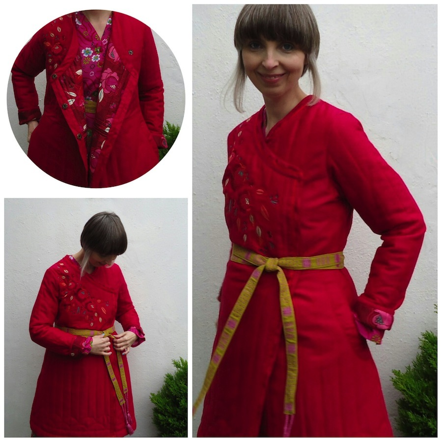 Embroidered and lined with roses: Gudrun Sjödén's Li Wei quilted coat