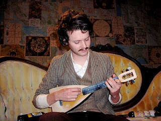 Zach Condon with ukulele