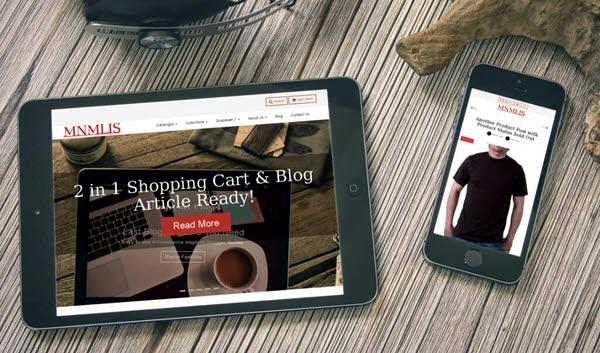 BlogrCart MNMLIS шаблон для интернет магазина