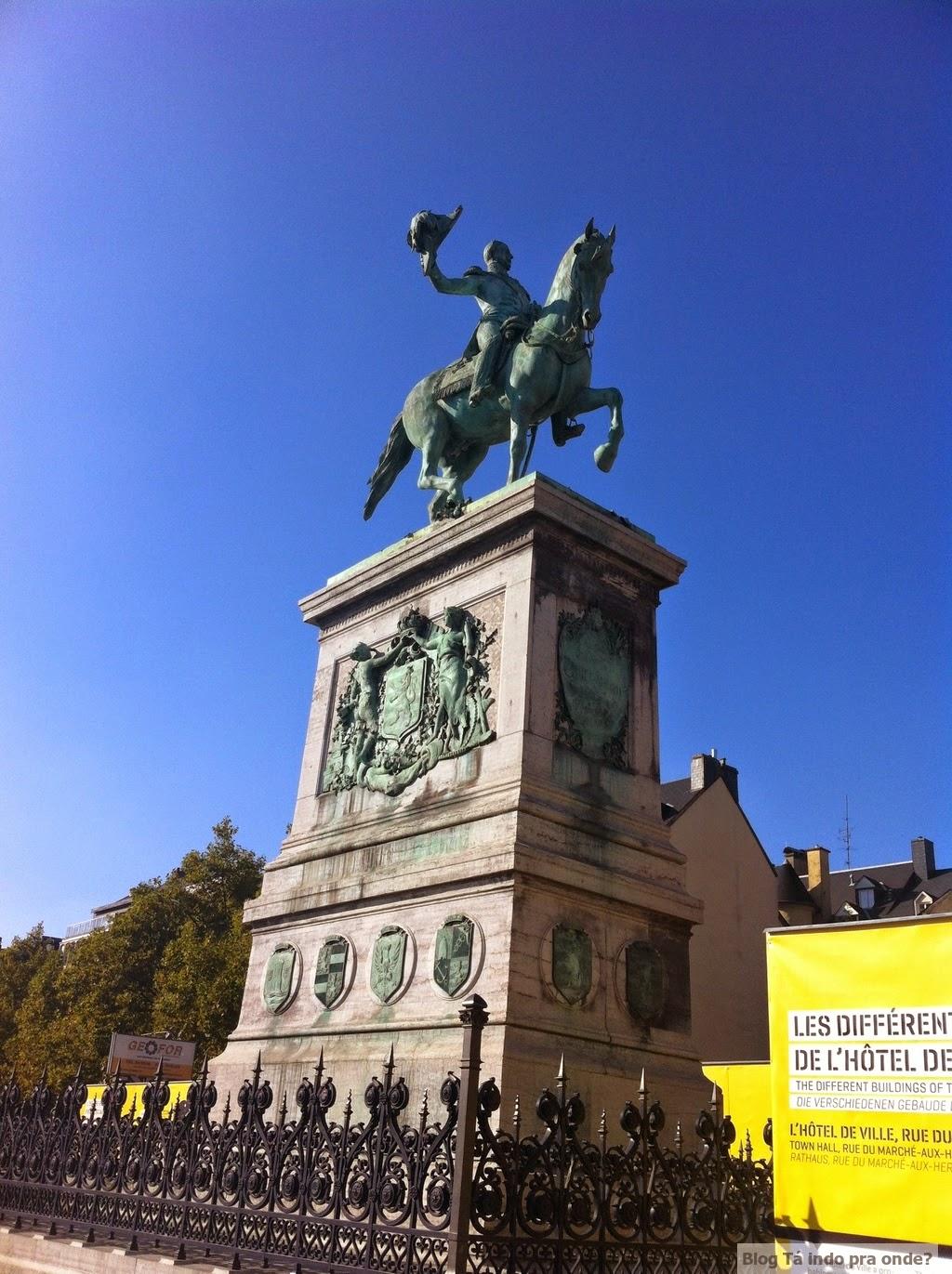 Praça Guillaume II em Luxemburgo