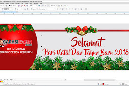 template banner spanduk natal dan tahun baru 2018 Coreldraw (CDR)