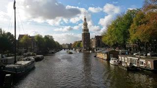 Amsterdam, picturesque setting of the city on the water