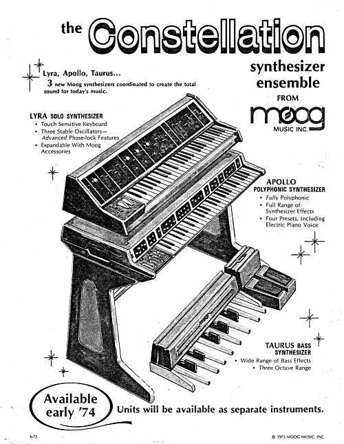 Moog Modular Synthesizer, 1972(?) interfaced with Keith