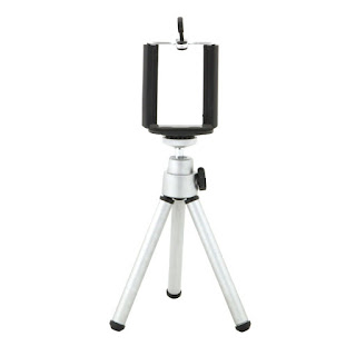 Mini Extendable Tripod 20cm 2 Section With Bracket Silver