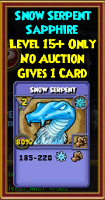 Snow Serpent - Wizard101 Card-Giving Jewel Guide