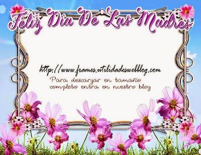 marco decorado con flores para el dia de las madres