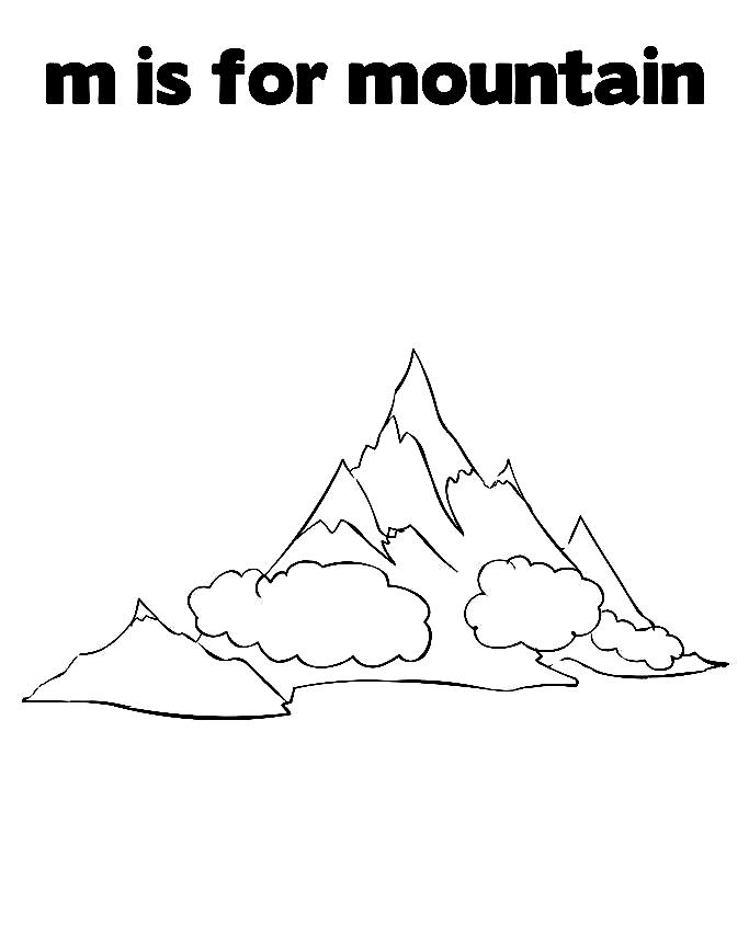 but here we are talking about coloring pages of mountains these pages come in many forms for children they learn many things from these pages and also