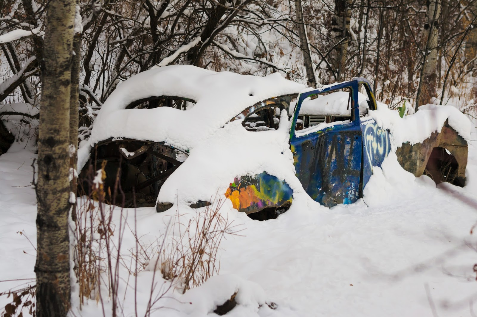 Abandoned Car in Paskapoo Slopes, Calgary