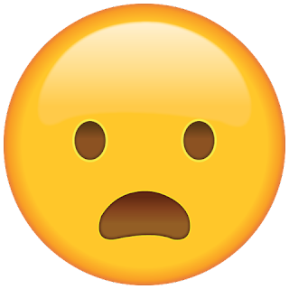 WhatsApp Frowning Face with Open Mouth