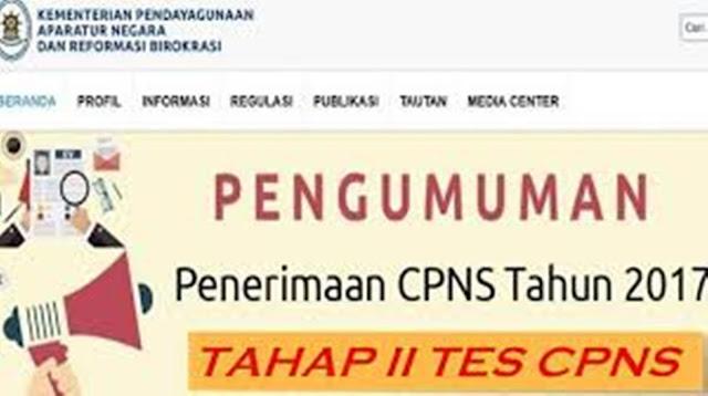 Inilah Jadwal Pengumuman Seleksi Administrasi CPNS Tahap II 2017 Beserta Jadwal Tahapan Seleksi Selanjutnya !