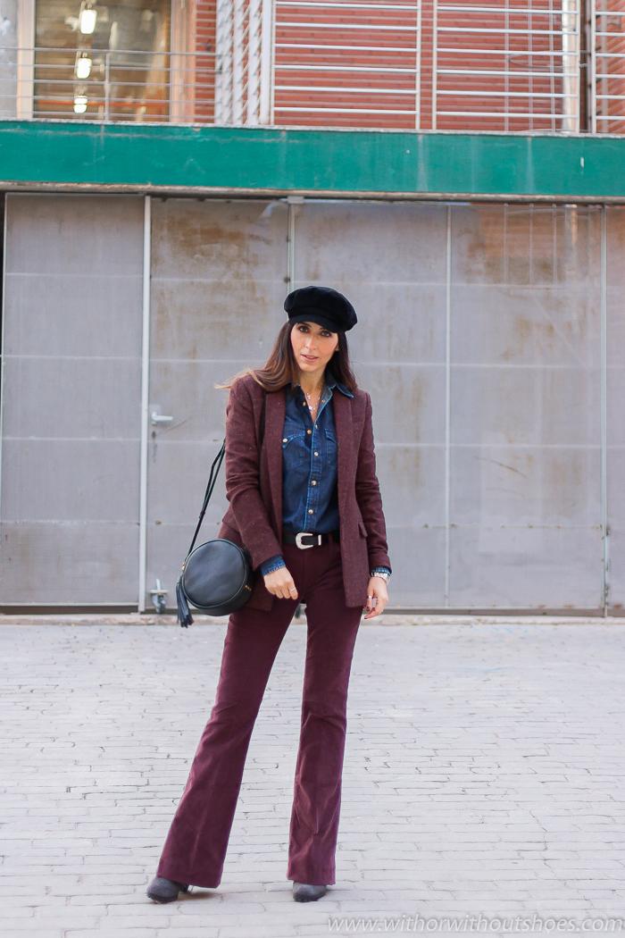 Influencer blogger valenciana con outfit los jeans pantalones de pana que mejor sientan Meltin' Pot y camisa denim