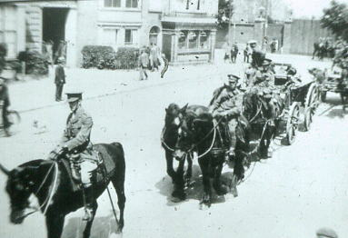 Troops approaching Gosport Station 1920s