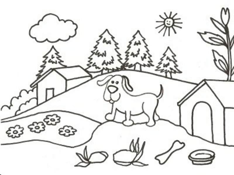 Dibujos Para Colorear Paisajes Naturales: NATHALY ZAVALAGA LINUS PAULING: Paisajes Con Herramientas