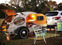 Teardrop or tiny trailer owners choose simplicity and cost when camping.