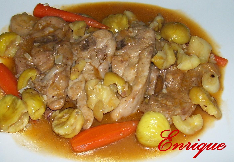 La cocina de enrique chuletas de pavo con casta as - Pavo con castanas ...