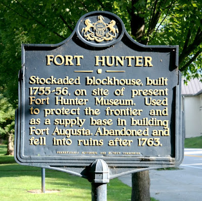 Fort Hunter Mansion Historical Marker in Harrisburg Pennsylvania