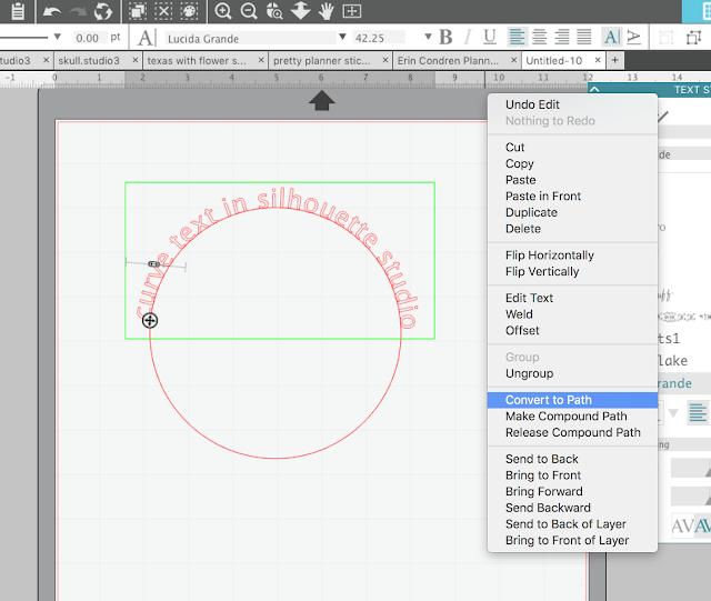 silhouette studio cameo 3, silhoeutte studio wrap text, silhoutte studio, silhouette studio tutorial beginner
