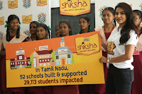 Actress Priya Anand in T Shirt with Students of Shiksha Movement Events 28.jpg