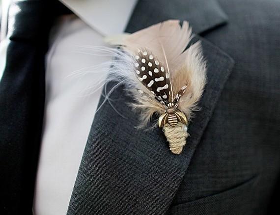 Prendidos diferente y originales de estilo retro vintage con plumas