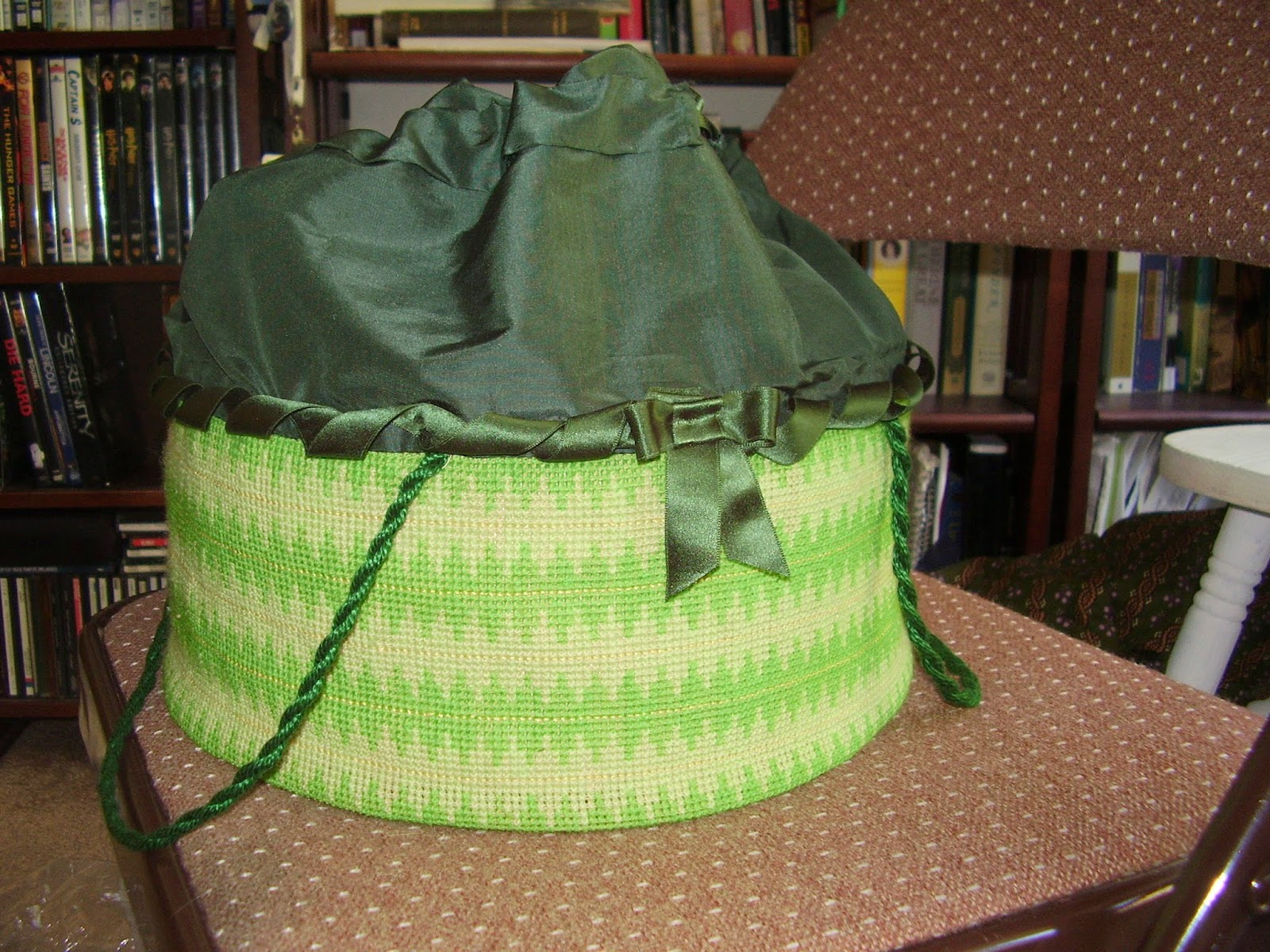 Completed 1861 pattern work basket.
