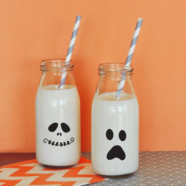 Halloween Milk Bottles