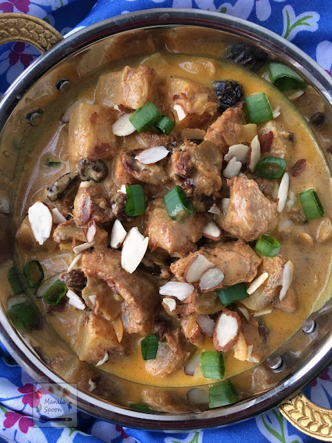 Mild and fruity chicken curry with the perfect blend of sweet and spicy flavors! Quick and easy to make it's ready in 30 minutes!