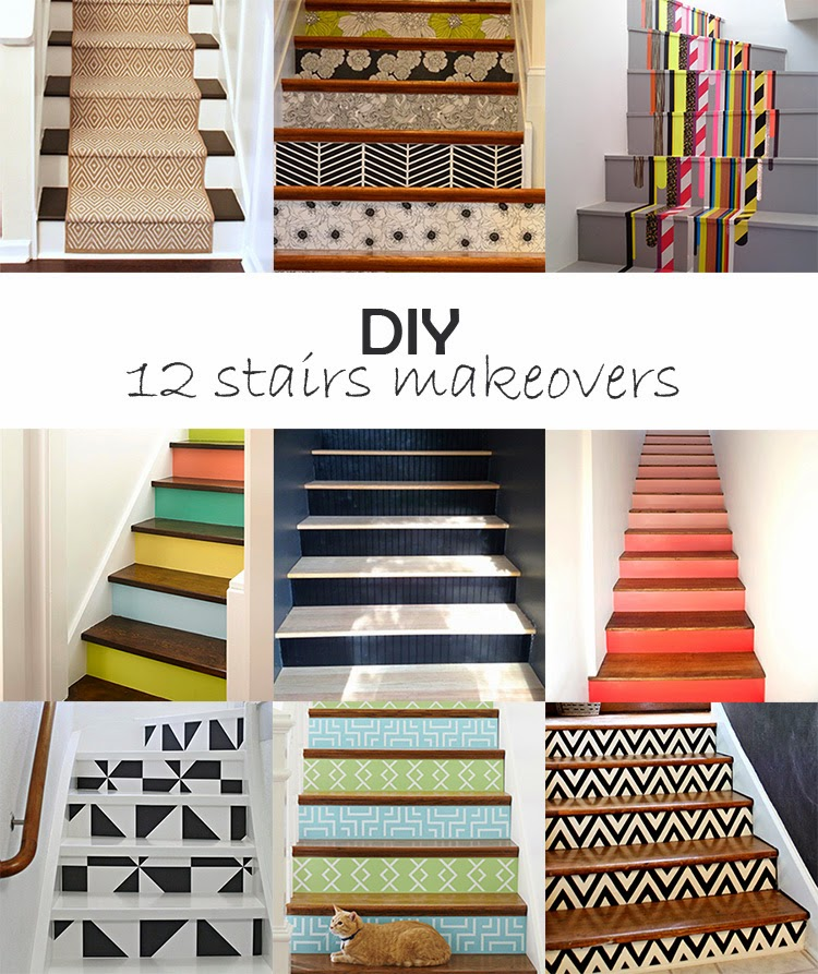 Diy Stair Treads Out Of Flor Tiles: DIY Monday # Stairs