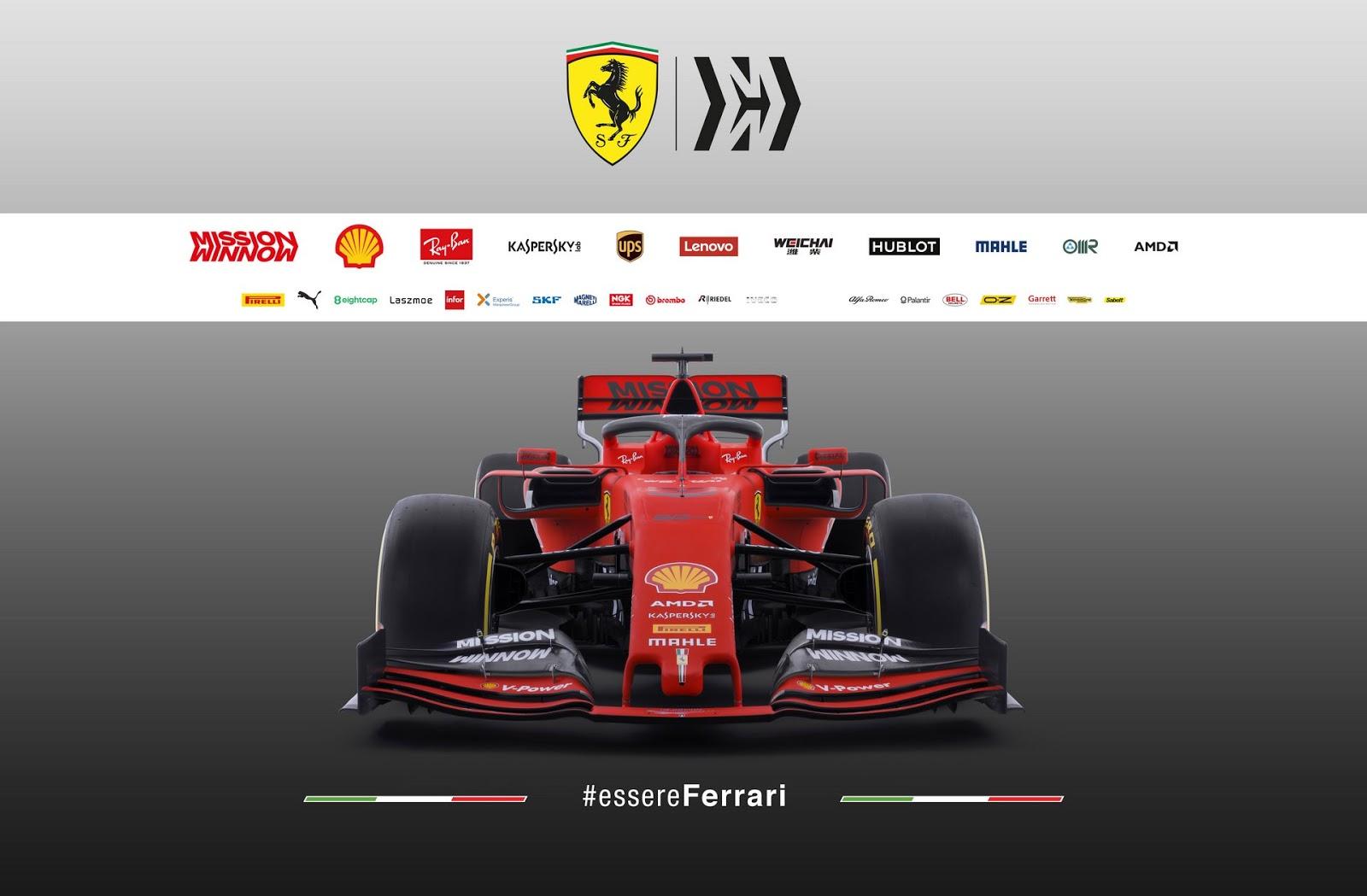 Scuderia Ferrari Mens Formula 1 Authentic Mens Red Tri-Color Polo
