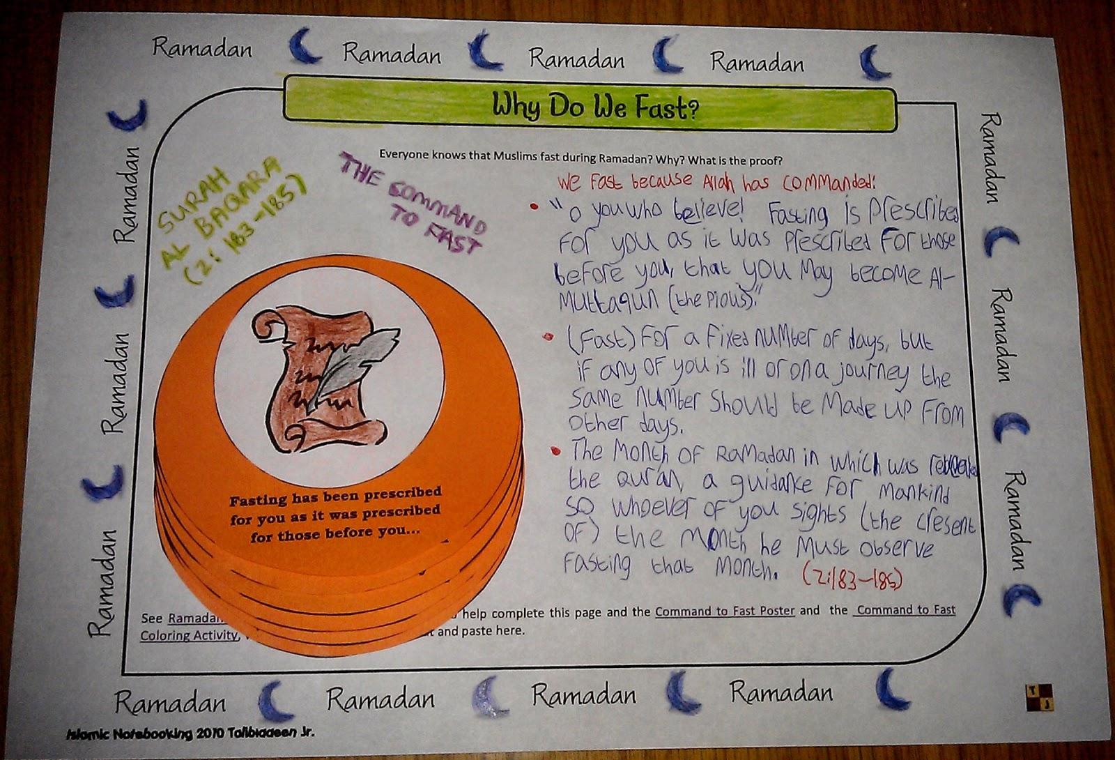 Iman S Home School Ramadan Interactive Notebook