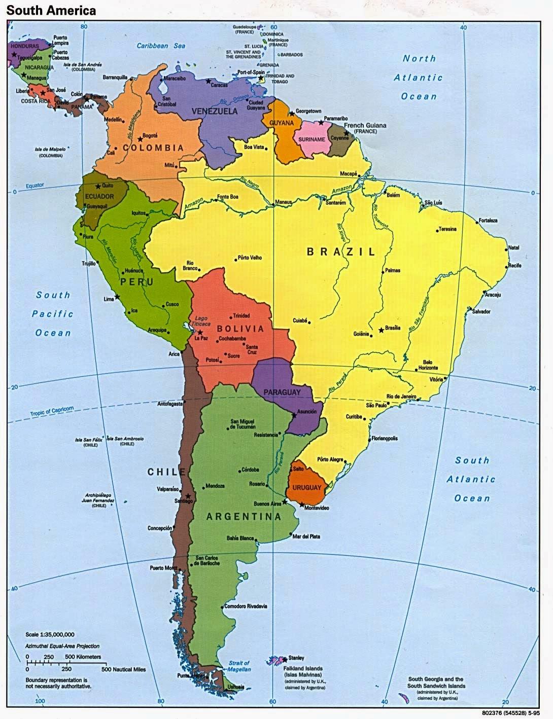 Mapa Sudamerica Y Centroamerica.Mapas De America Del Sur Y Centroamerica Mas De 250