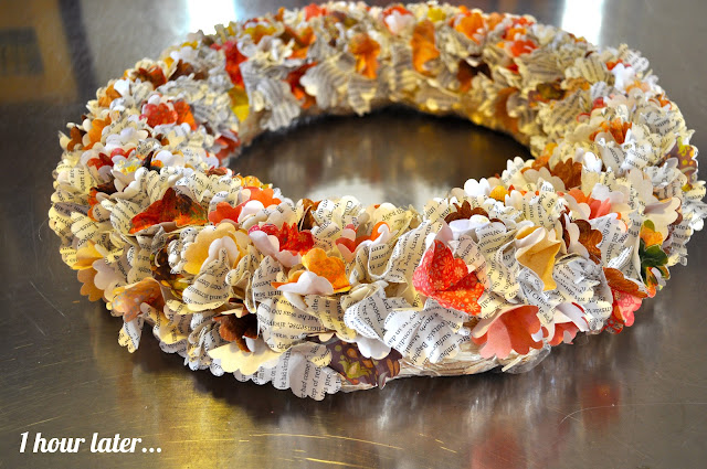 Easy Thanksgiving wreath tutorial