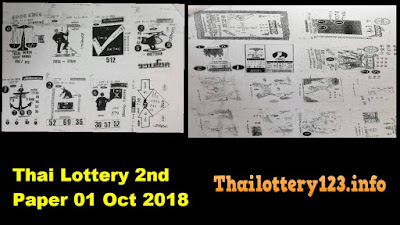 Thai Lottery 2nd Second Paper Full Magazine Tips 01 October 2018